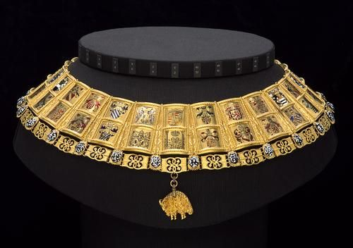 The Potence (crest chain) for the Herald of the Order of the Golden Fleece | | around 1517