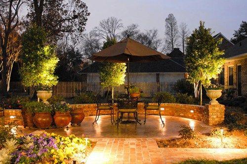 patio lighting, brick walks, brick wall recently added angelo's ... - Patio Lighting Ideas