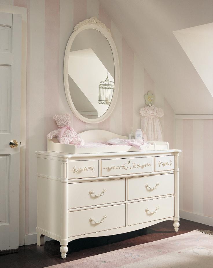 The Isabella Dresser-love the pink-stripe walls