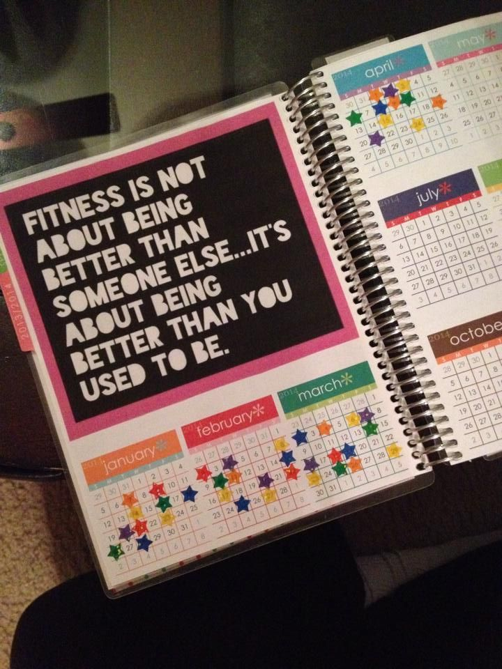 Fitness Tracker - a reference so creating a page for my personal binder.