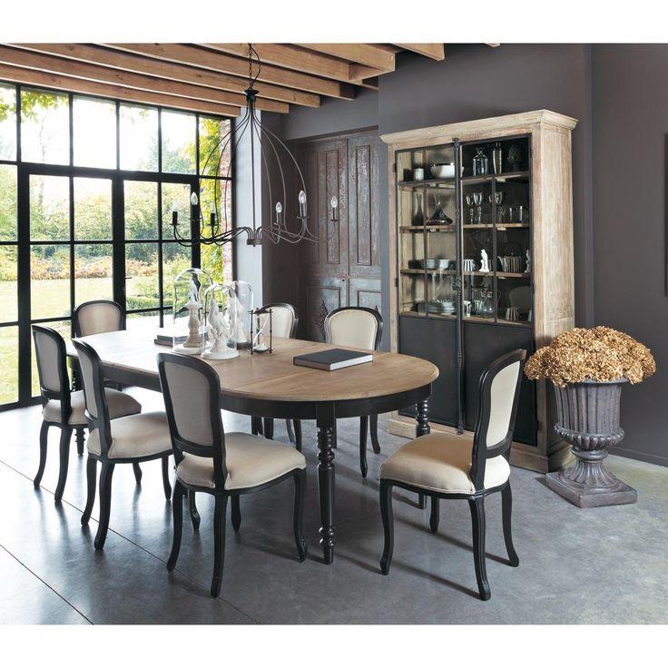 Table de salle à manger à rallonges en chêne L 125 cm Valencay | Maisons du Monde