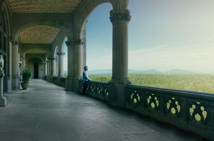 Biltmore Estate, Asheville NC. My absolute FAVORITE part of the Biltmore... besides the gardens, and the stairwells.. and well. yeah. but I could spend HOURS out here marveling at the ridiculous architectural and natural beauty