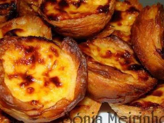 Receita Sobremesa : Pastéis de nata com massa folhada caseira de Sonia meirinho