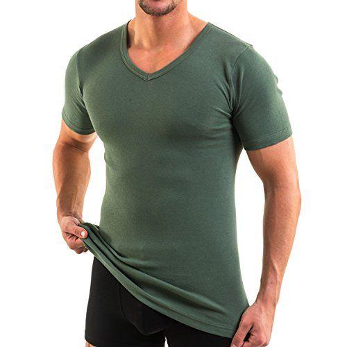 4880 Herren kurzarm Shirt mit V-Ausschnitt exclusive by HERMKO, Business Unterhemd aus 100% Baumwolle in 6 Farben, Größe:D 7 = EU XL;Farbe:olive - http://on-line-kaufen.de/hermko/7-xl-4880-herren-kurzarm-shirt-mit-v-ausschnitt-by-6-3