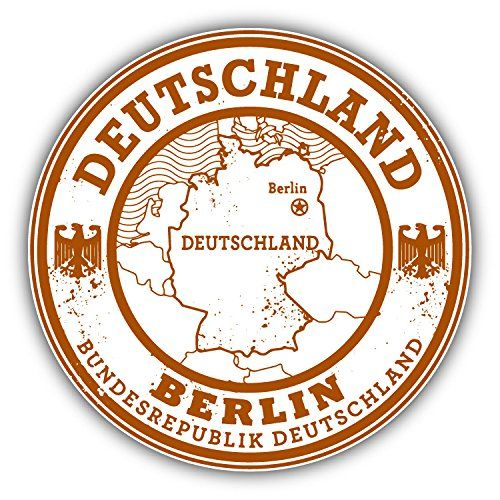 Berlin City Germany Grunge Travel Stamp Car Bumper Sticker Decal 5 x 5 -- Want additional info? Click on the image.
