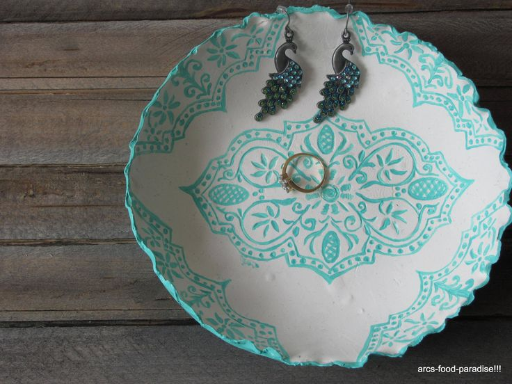 Pretty dish made with polymer clay.