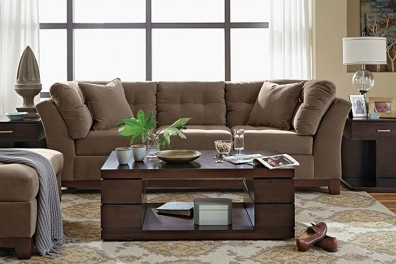 Solace Cocoa Upholstery Collection - Value City Furniture-Sofa $699.99