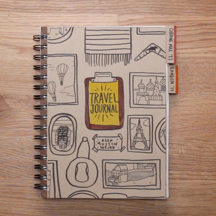Build Your Own Travel Journal #DIY #notebook #creative #travel
