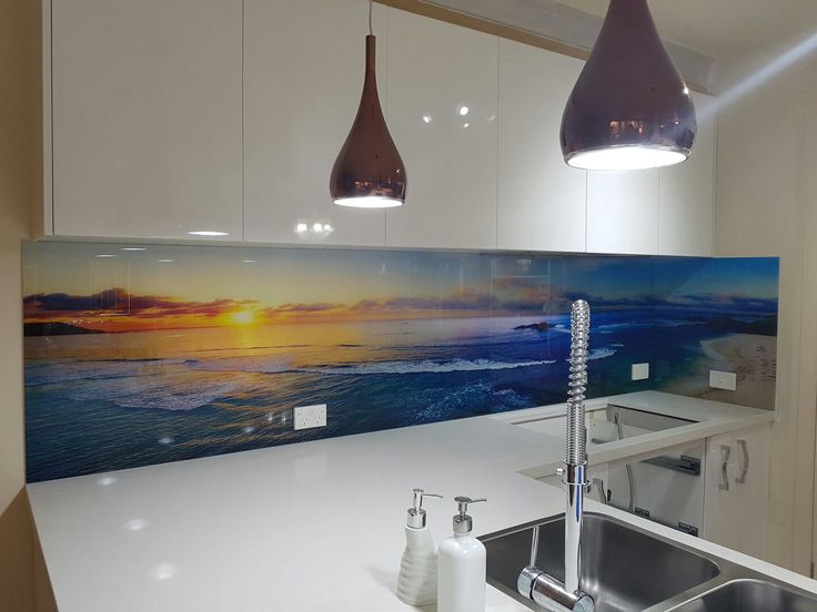 This is another amazing DecoGlaze™ Impression Series Splashback, the image supplied to us is a beautiful panoramic view of Kuta Beach, Bali at sunset.