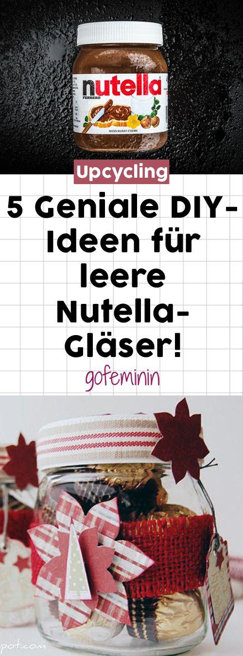 Upcycling in seiner besten Form: 6 geniale DIY-Ideen für leere Nutella-Gläser #nutella #nutellaglas