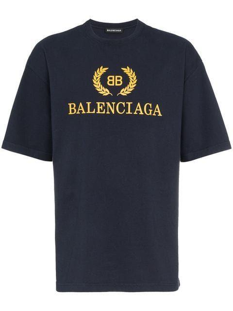 30dfedbc45de Shop Balenciaga BB logo t-shirt | MAN PRINTS1 in 2019 | Balenciaga ...