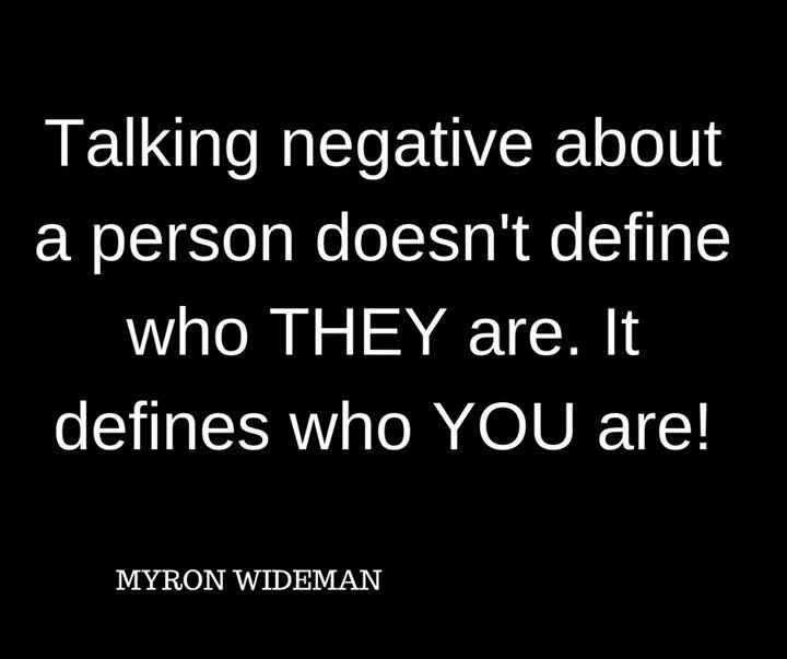 #amen let's try to refrain from negative speaking and negative thinking.
