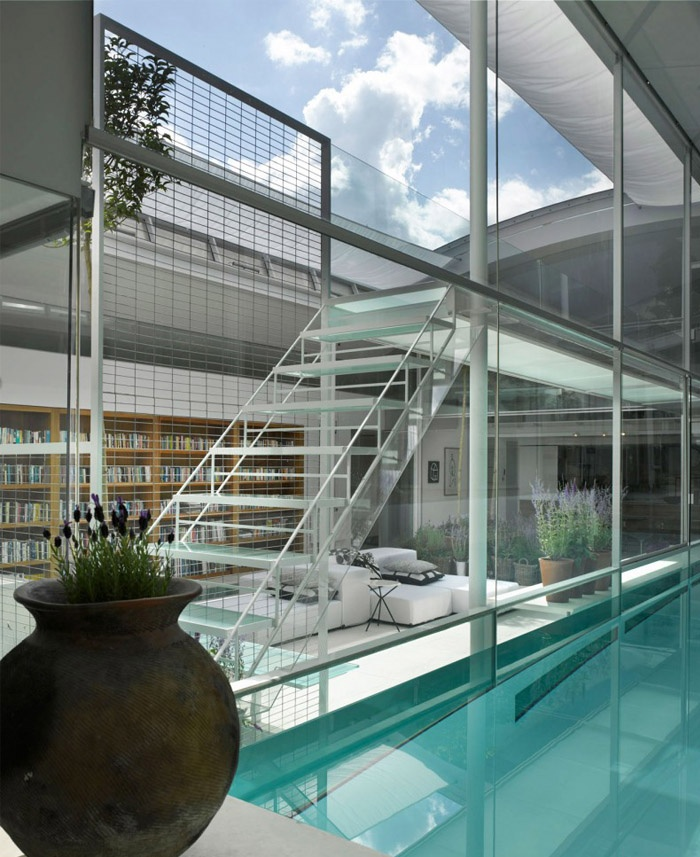 Ava's house indoor Glass Pool