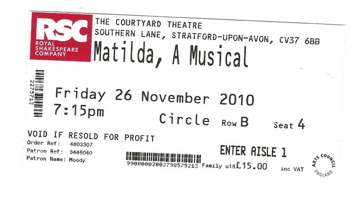 matilda tickets - Google Search