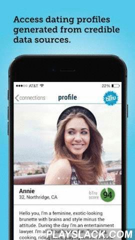 BTru - Online Dating Platform  Android App - playslack.com , bTru is a dating platform that makes it easy to find out who people really are before you go on a date. Check potential dates out. PLEASE READ HOW TO USE BELOW:Get real photos of people you meet on any online dating site or app. Find out what Facebook, LinkedIn and Twitter say about that person you saw on the dating site/app you're using. Be able to call or text through the app and even get a background check without knowing…