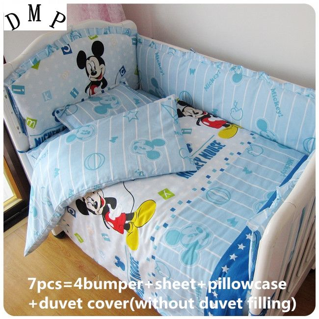 39.80$  Watch here - http://alixkv.shopchina.info/1/go.php?t=32515856786 - Discount! 6/7pcs Cartoon Infant Crib Bedding Set 100% Cotton Baby Bumpers Set For Children,120*60/120*70cm 39.80$ #magazine