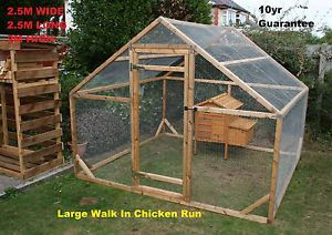 cheap free chicken cage coop | Large-Walk-in-poultry-chicken-coop-run-dog-house-etc-2-5m-x-2-5m-8ft-x ...