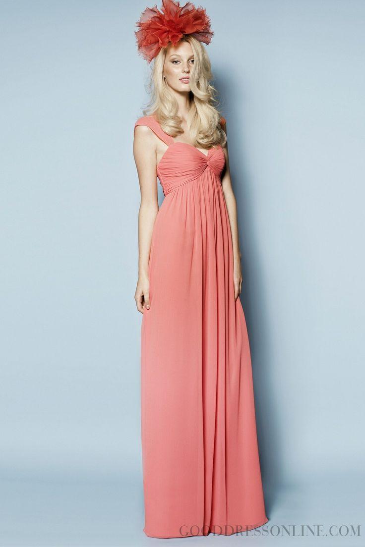 2015 Modest A-line Straps Zip-up Ruffles Bridesmaid Dresses