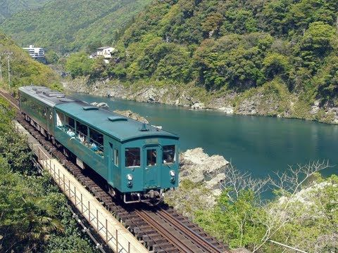 Dosan line on Shikoku (HD) 大歩危(おおぼけ)トロッコ号 渓谷をゆっくり行く キハ185+キクハ32