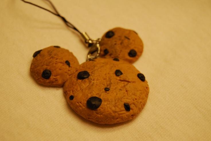 Mickey Cookie Polymer Clay Charm.