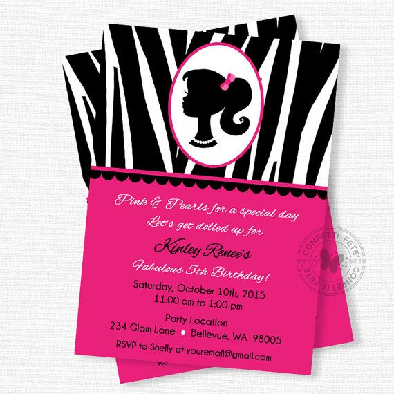 the 25+ best barbie birthday invitations ideas on pinterest, Birthday invitations