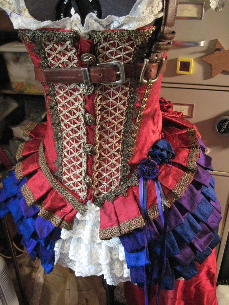 Steampunk Saloon Girl - Dragonfly Designs by Alisa