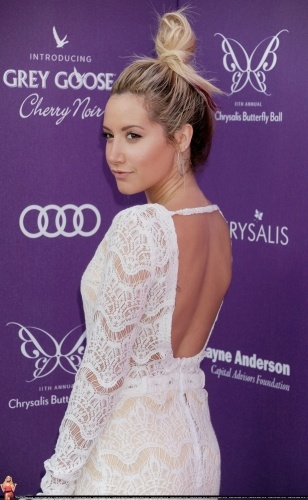 Ashley Tisdale 11th Annual Chrysalis Butterfly Ball. I love this whole look.