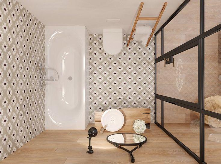 die besten 25 fliesen holzoptik bad ideen auf pinterest holzoptik badezimmer holzoptik und. Black Bedroom Furniture Sets. Home Design Ideas