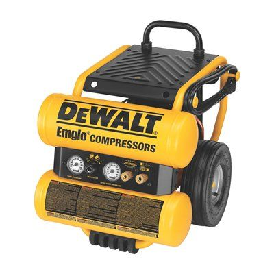 DEWALT D55154 Heavy-Duty 4-gal Electric Dolly-Style Twin Stack Air Compressor