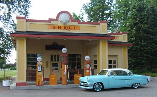vintage service stations | Vintage Filling Stations - The Garage Journal Board
