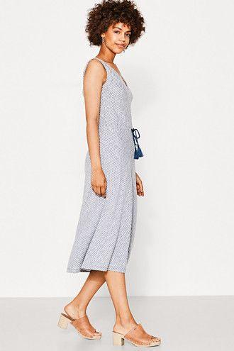 EDC / Gestreepte jurk van jersey