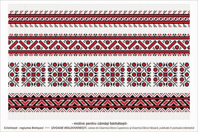Semne Cusute: Romanian traditional motifs - MOLDOVA - Botosani, ...
