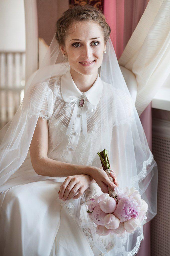 pure silk vintage style dress for Nastya