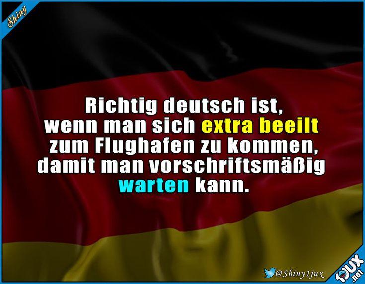 Schnell, wir kommen sonst zu spät zum warten! #typisch #typischdeutsch #deutsch #Deutschland #lustigeBilder