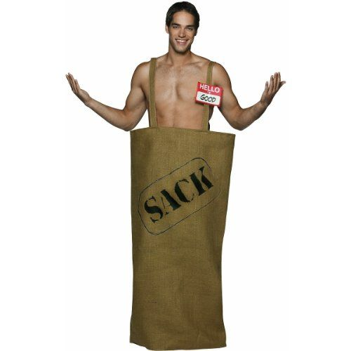 good in the sack mens funny halloween costumes college humor sizes one size - Halloween Costume For College Guy