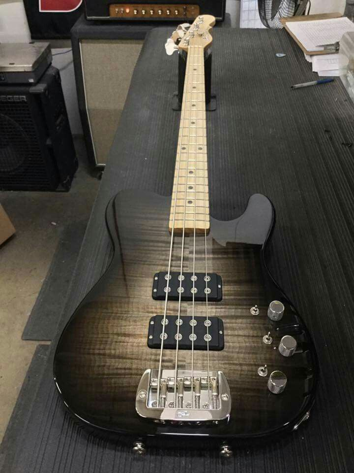 Here's an ASAT Bass in Blackburst over flame maple on swamp ash, maple neck with Light Tint Satin finish. CLF079336 is headed to Hummingbird Music Studio & Academy in Sugarcreek, Ohio. G&L Musical Instruments.
