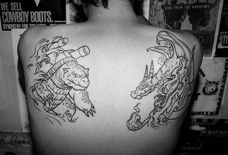 subtle scary pokemon tattoo pacific rim