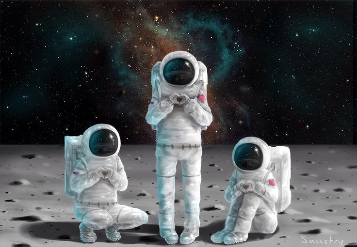 Картинки прикольных космонавтов, конверты