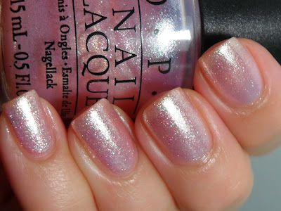OPI Princesses Rule!  My favorite on fingers.  I only use one coat and it looks like a french manicure.  Quick and easy on/off so I keep my nails looking fresh with  minimal effort. This pic has two coats, which is pretty, but I prefer a more transparent look--more natural.