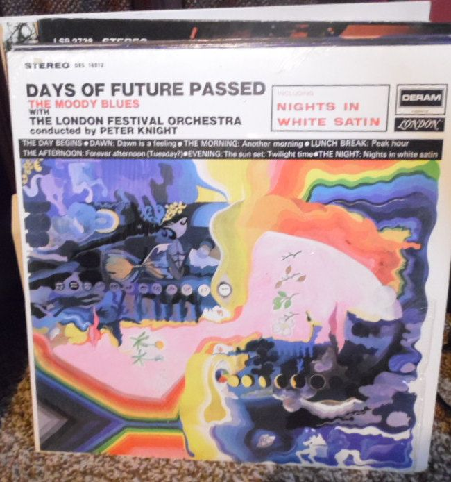"Moody Blues in""Days of Future Passed"" by Deram Records DES18012"