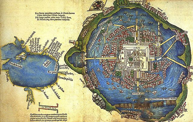 Aztec Civilization Timeline. - 1325, The city of Tenochtitlán is founded. This is the Aztecs' capital city, built on an island near the shores of Lake Texcoco. They decide to settle here after a priest has a vision of an eagle sitting on a cactus, devouring a snake. This city becomes the central point of the ever-growing and powerful Aztec society.