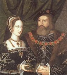 "Mary Tudor ""Queen of France"" and her husband Charles Brandon. This is Henry the VIII's younger sister. Brandon and Mary were married in secret in France following the death of the King of France Louis XII."