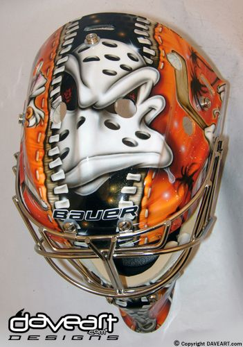 Anaheim Ducks Goalie Mask | Dan Ellis Anaheim Ducks Mask