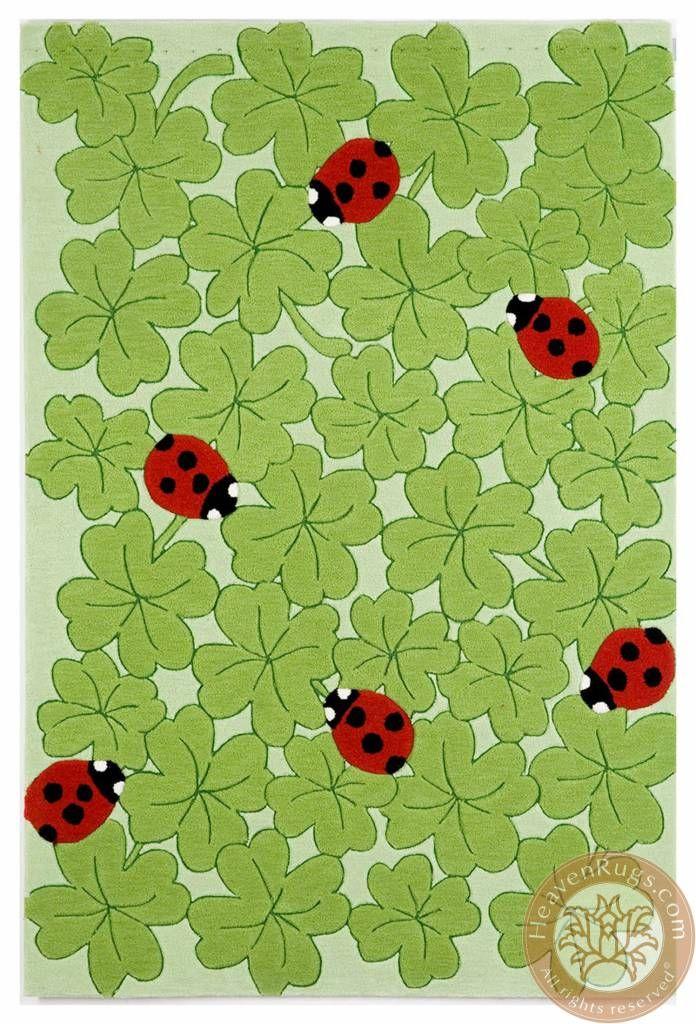 Kids Ladybug.Carpet Category: kids. Brand:HeavenRugs