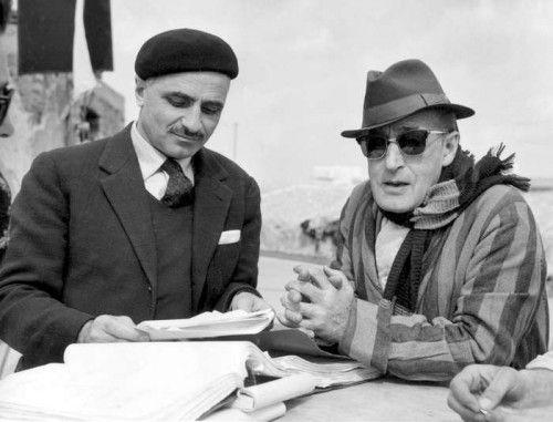M:Monicelli con il grande Totò ,nel film Fifa e arena del 1949.