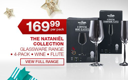 For Her – The Nataniël Collection Glassware Range - Toast with crystal glasses to celebrate Christmas in style!