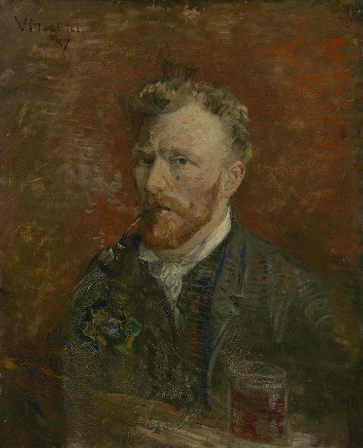 Vincent van Gogh, Zelfportret met glas, 1887