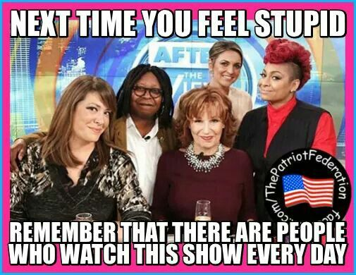 Why?????? Can't stand this show.  So out of touch!!!! Feel good show that numbs your mind and heart!!!