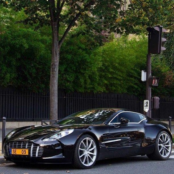 This baby is in Black! Aston Martin One-77  #RePin by AT Social Media Marketing - Pinterest Marketing Specialists ATSocialMedia.co.uk
