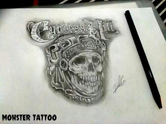Diseño Cypress Hill DISPONIBLE PARA TATUAR